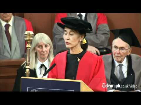 Aung San Suu Kyi speaks of her Oxford years