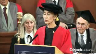 Aung San Suu Kyi speaks of her Oxford years