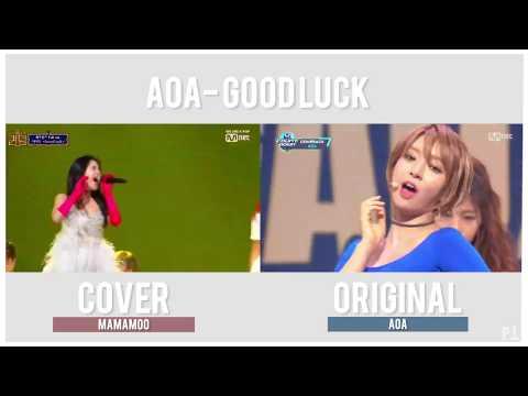 AOA - Good Luck Comparison (Original VS MAMAMOO Queendom Cover)