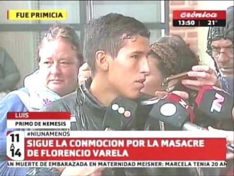 Sigue la conmoción por la masacre de Florencio Varela