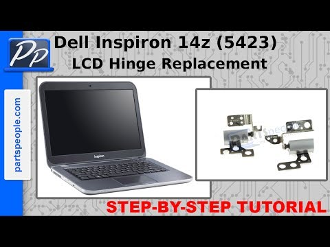 Dell Inspiron 14z (5423) LCD Hinge Video Tutorial Teardown