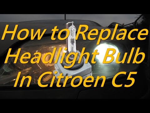 Citroen C5 - How to Replace Headlight Bulb in Citroen C5 Xenon Lamp Headlight Replacement in Citroen