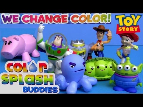 8 Color Changers Toy Story Splash Water Toys Youtube