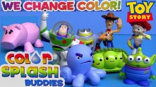 8 Color Changers Toy Story Splash Water toys review Disney Pixar Colour Shifters by Blucollection
