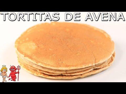 TORTITAS DE AVENA FÁCILES Y  SALUDABLES🥞 PARA DESAYUNAR