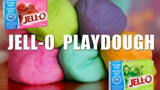 How to make Playdough with JELLO | No Cook! Playdoh Video