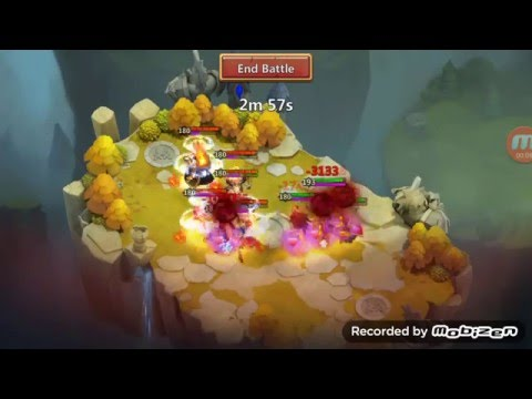Castle Clash - Valentina Does Not Shield Against Aries' Calamity