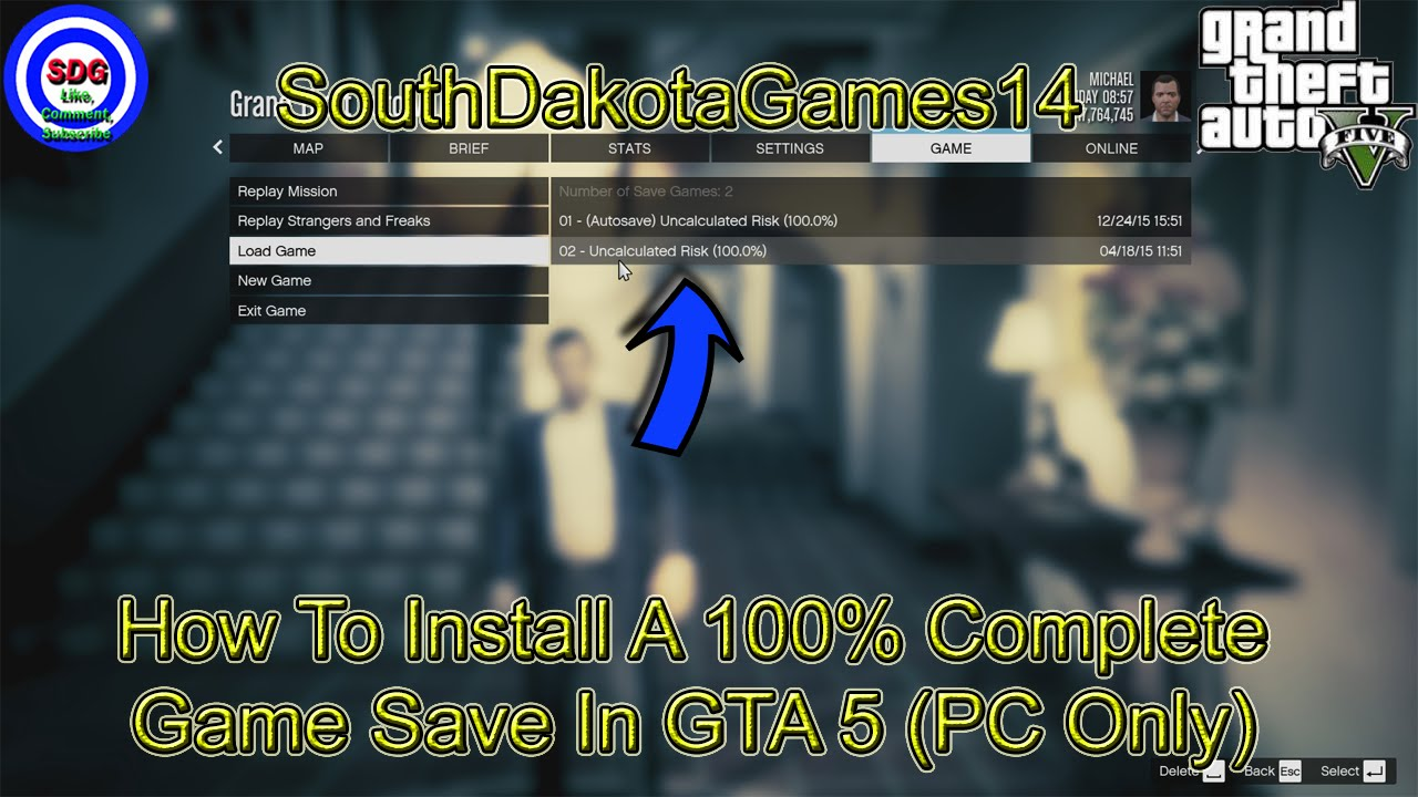 gta 5 100 save game pc location