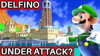 What if Delfino Plaza was Under Attack in Super Mario Galaxy 2?