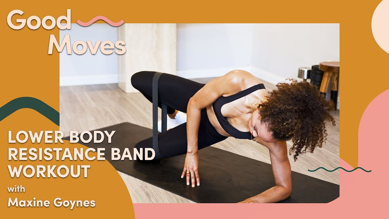 25 Minute Lower Body Resistance Band Workout | Good Moves | Well+Good