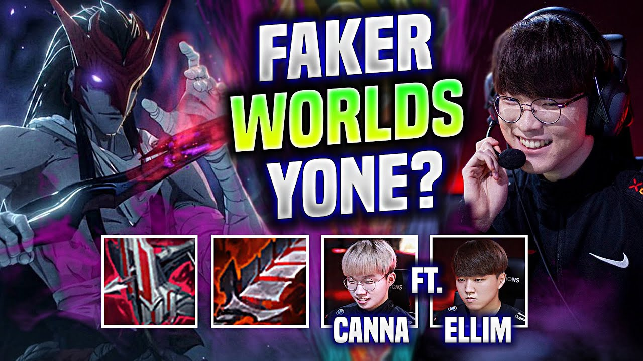 Download FAKER TRAINING YONE WITH NEW BUFFS FOR WORLDS?! 🔥FT CANNA & ELLIM🔥 - T1 Faker Yone Mid vs Syndra!