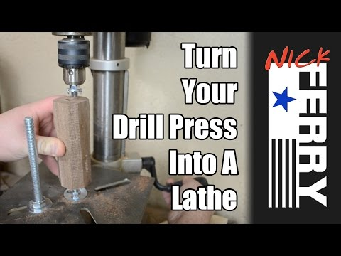 How to Turn Your Drill Press Into a Vertical Woodworking Lathe