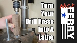 Ⓕ Turn Your Drill Press Into A Lathe - Scrap Bin Challenge (ep26)