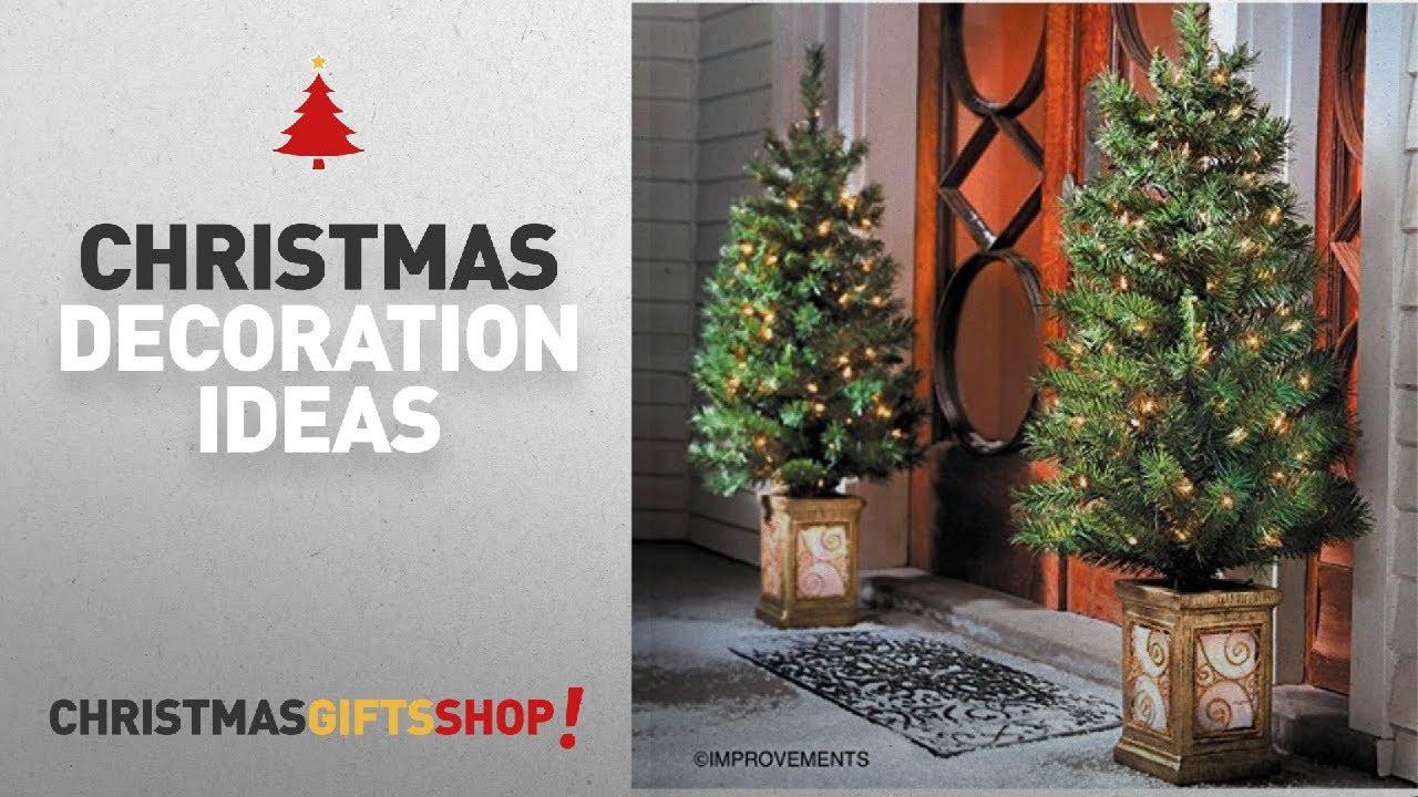 Top Christmas Decorations Elegant: 4 Ft Pre-Lit Entryway