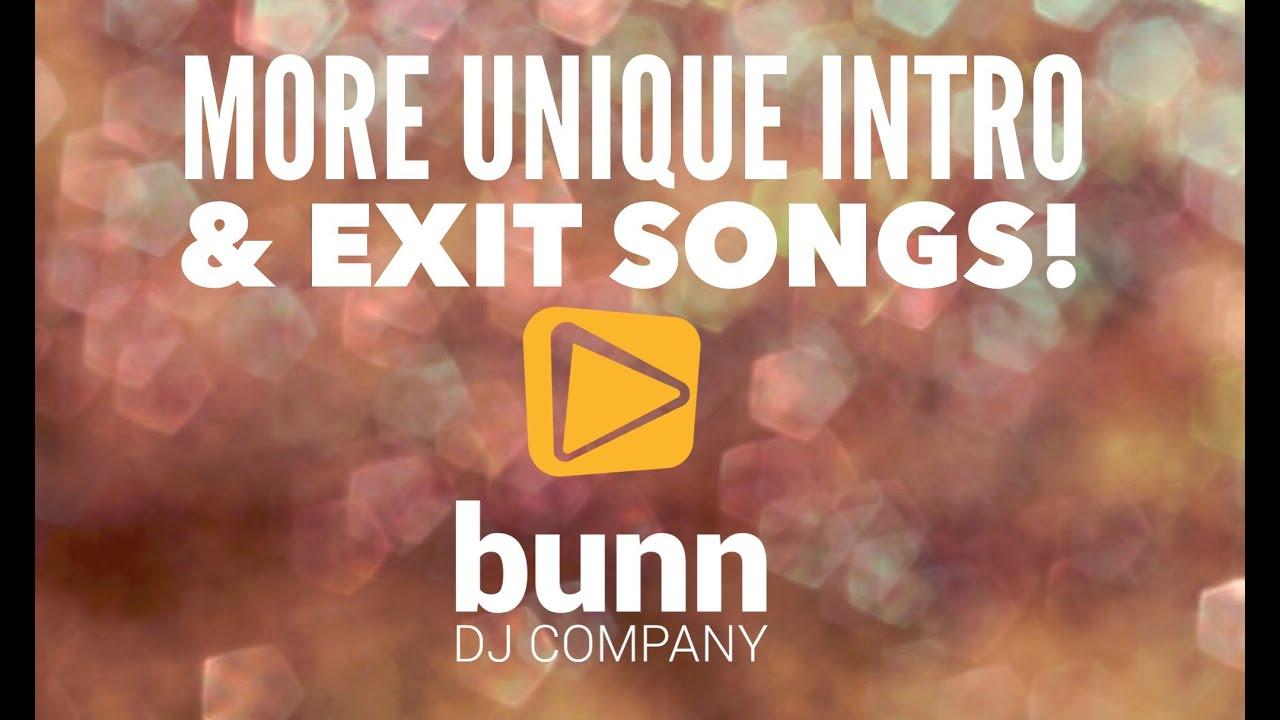 More Unique Wedding Intro Exit Songs Video