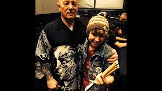 Jagger Alexander-Erber on drums with Angry Anderson of Rose Tattoo