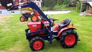 kompakttraktor kubota B7000 and B7001 med lastare