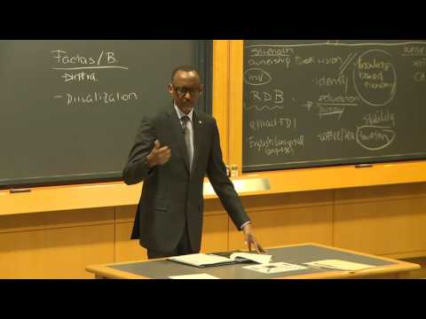 President Kagame at Harvard Business School Class | Boston, 10 March 2017