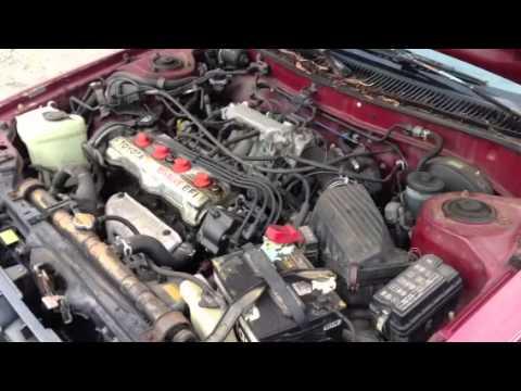 corolla all trac 4wd awd engine - YouTube
