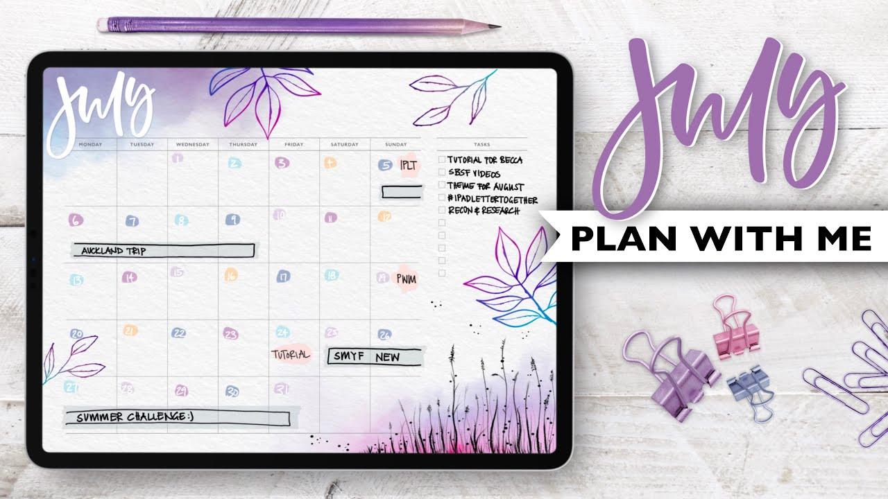 PLAN WITH ME | July 2020 Digital Bullet Journal Setup