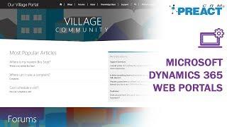 Showcasing Integrated Web Portals for Dynamics 365