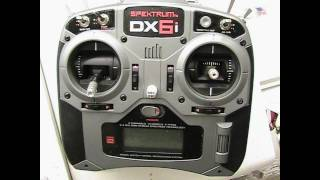 Blade 400 Spektrum Dx6i Pitch and Throttle curve settings.