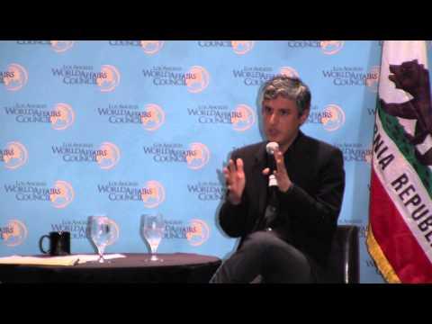 Reza Aslan addressing the Los Angeles World Affairs Council
