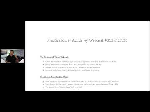 PracticePower Academy Webcast #012 8.17.16