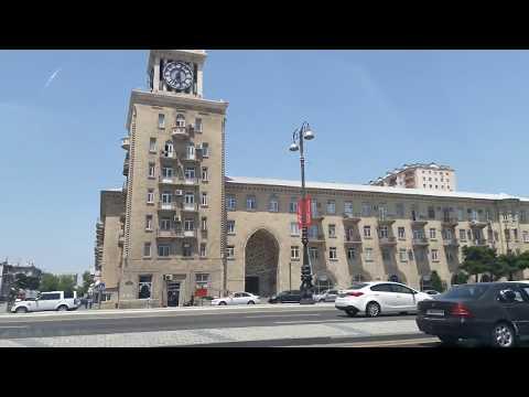 вторая часть баку азербайджан поездка по городу красивые места достопримечательности лето отдых