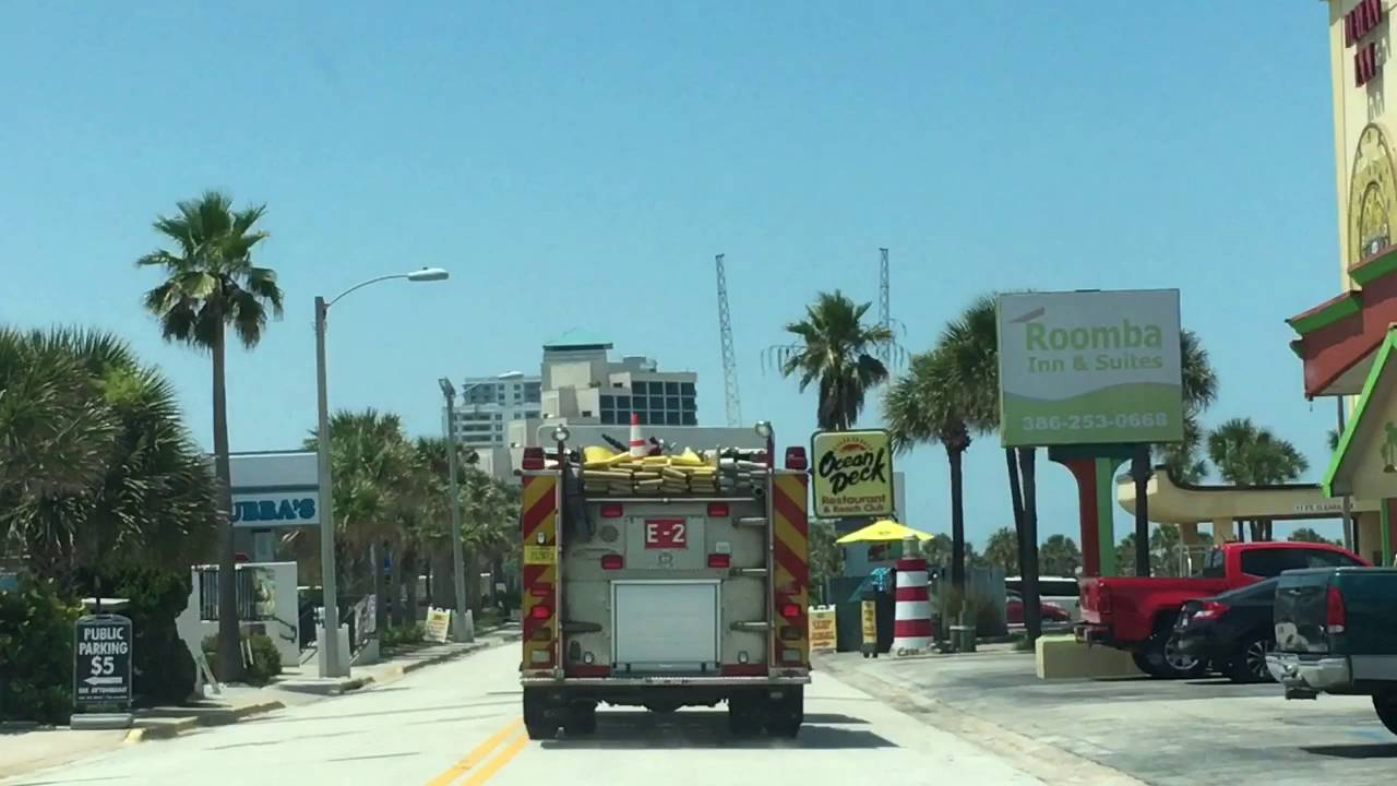 Daytona Beach Fire Department Engine 2 and Rescue 1 Arriving on ...