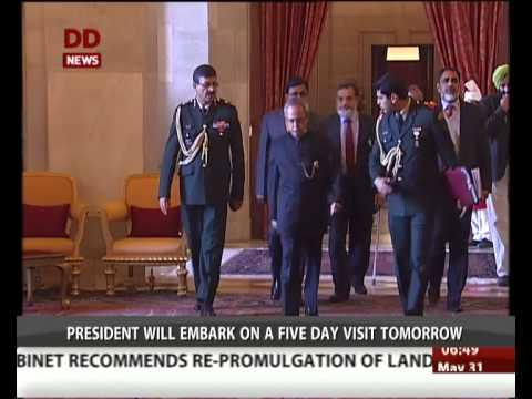 President Pranab Mukherjee to visit Belarus and Sweden