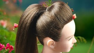ঘরে বসে এতো সুন্দর করে পাফ হেয়ার স্টাইল তৈরি করা যায় ভাবতেও পারিনি॥ New High Puff Ponytail Hairstyle