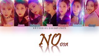 Dia(다이아 ) – no (안할래) all rights reserved to mbk entertainment lyrics/작사: 브라더수 (brothersu) composer/작곡: 72, andrew lane, breezelle fox, geist, pollock arrange...