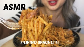 ASMR [ Filipino Spaghetti ] Eating Sound Lets Eat
