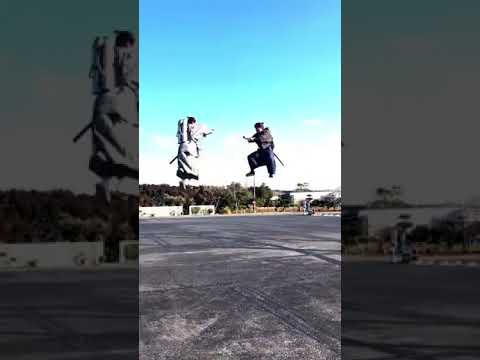 The Physics Behind a Fake Flying Samurai Battle