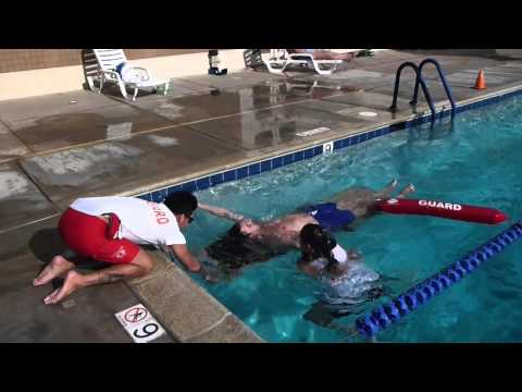 Lifeguarding Drill: YMCA Speed Board Exit with Victim Fully Submerged, Deep Water