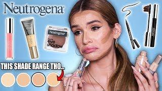 FULL FACE testing NEUTROGENA Makeup! | is it ANY Good?!