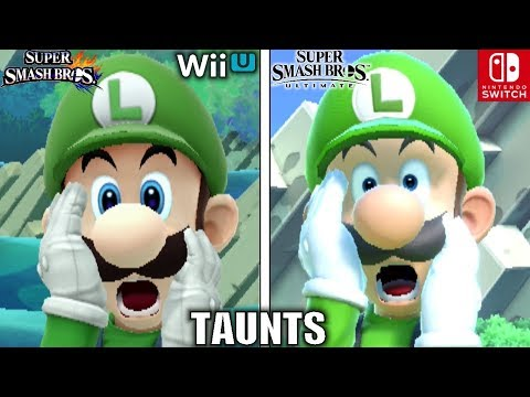 Smash Bros Taunts Comparison (Wii U VS Ultimate - Graphics, Voice, Taunt Changes & MORE!)