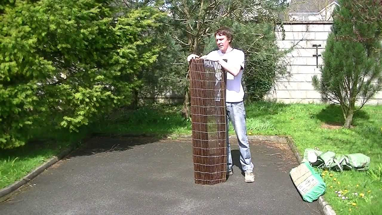 15m willow screen fencing youtube baanklon Choice Image