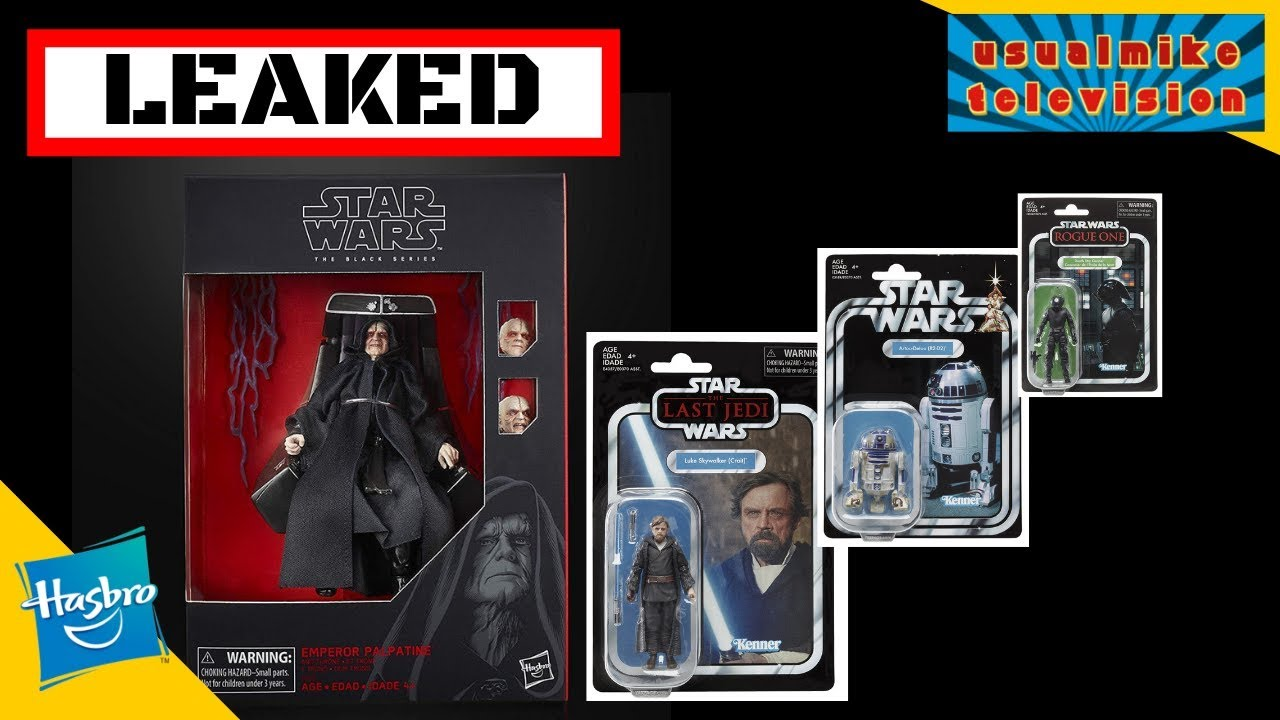Star Wars Leaked Emperor Palpatine The Black Series The Vintage Collection Wave 7 Youtube