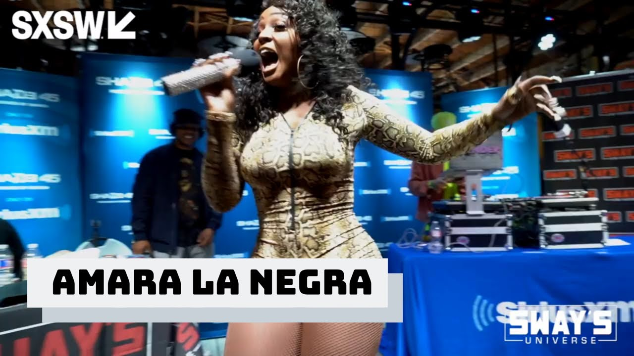 """Amara La Negra Performs """"Insecure"""" & """"What A Bam Bam"""" Live on Sway In The Mo"""