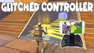 Glitched Controller Season 7 😩😱Scammer Gets Scammed In Fortnite Save The World PVE