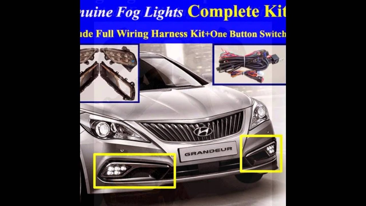 20152017 Hyundai Azera Fog Light Lamp Complete Kitwiring Harness 2015 Silverado Wiring One Button Switchled Drl