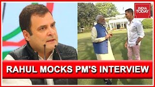 Rahul Gandhi Mocks PM Modi Over His Interview With Akshay Kumar