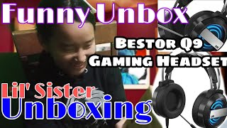 Bestor Q9 HD LED for PC Unboxing By Melody Nyitan Funny unboxing video funny Gaming Headset for PC