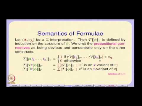 Mod-01 Lec-18 The Semantic of Predicate Logic