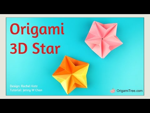 Christmas Crafts - EASY Origami Star - 3D Paper Origami Star - EASY Paper Crafts