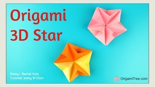 Christmas Crafts - EASY Origami Star - 3D Paper Origami Star - EASY Paper Crafts for Kids