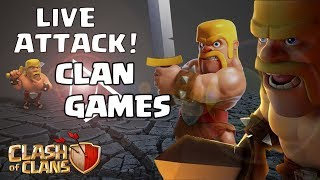 CLAN GAMES !! Clash of Clans LIVE STREAMING !! LIVE ATTACK etc..