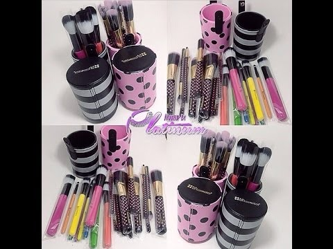 23c19498251b BH COSMETICS POP ART AND PINK A DOT BRUSH SET COMPARASION - YouTube